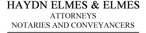 Haydn Elmes & Elmes Attorneys Logo